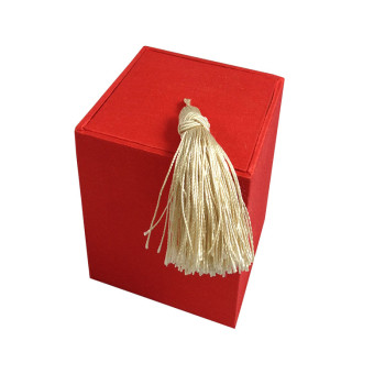 Red silk tea box