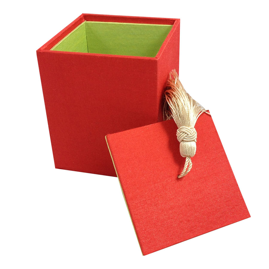 Red Silk Tea Box - Luxury Wedding Invitations, Handmade Invitations ...