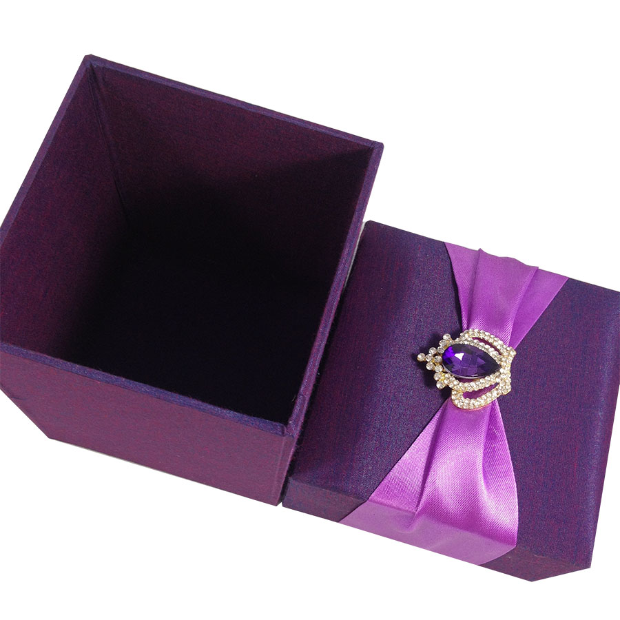 Luxury wine glass gift box wedding invitations