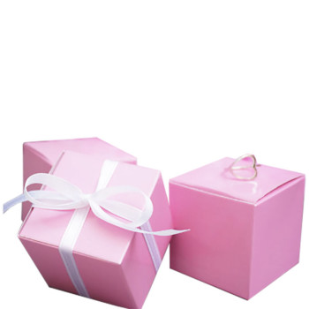 Pink Party Favour Boxes