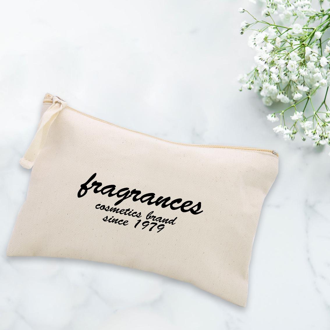 Cotton logo cosmetic bag for premium gift