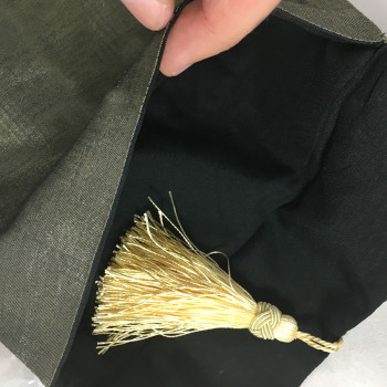 Interior of silk bag