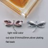 lightrose dragonfly crystal brooch