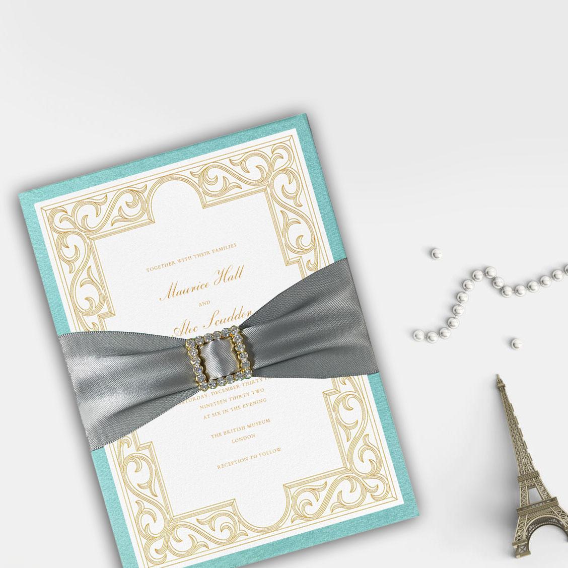 Luxury wedding invitation card sets