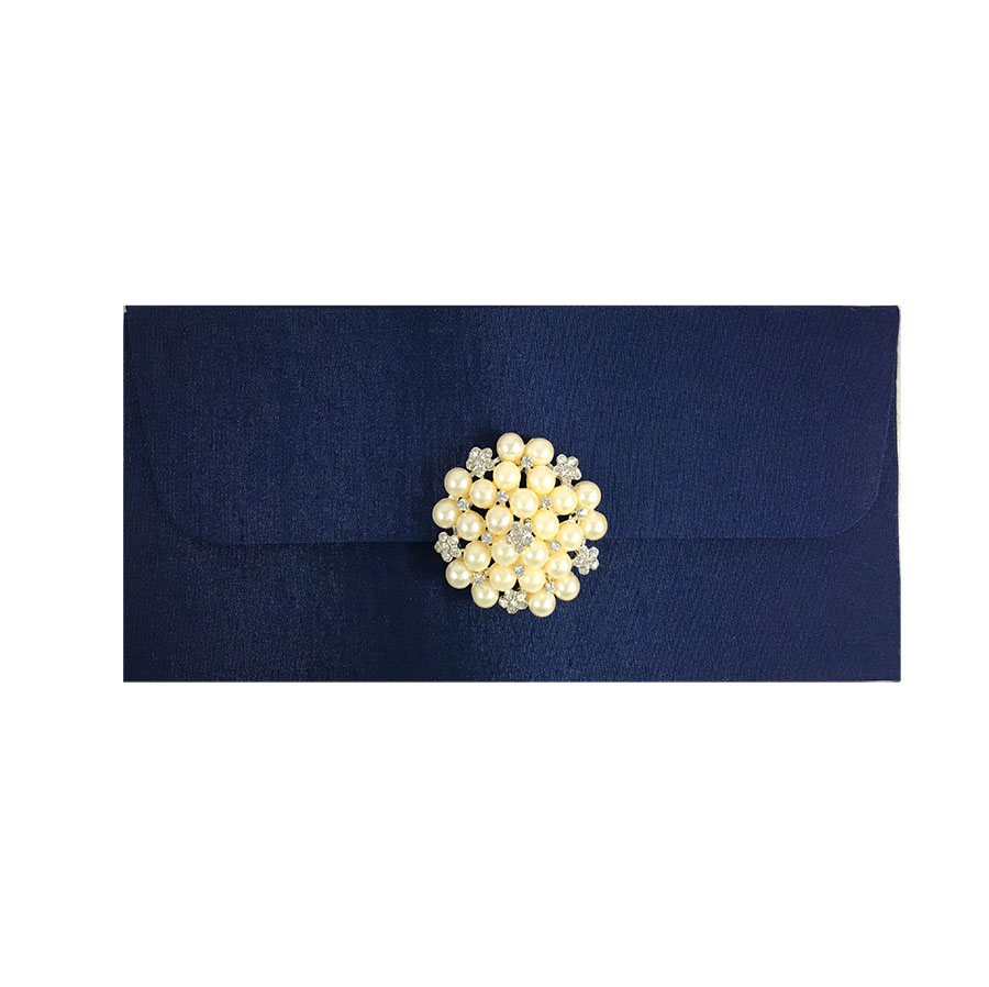 navy blue wedding envelope