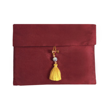 Red Thai Silk Pouch