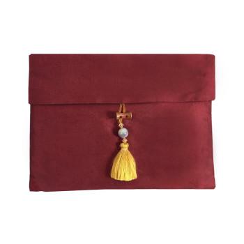 Red Thai Silk Pouch