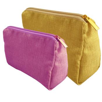 silk cosmetic bags