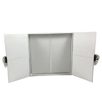 white invitation boxes