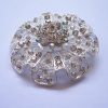 Luxury Silver Diamond Wedding Brooch