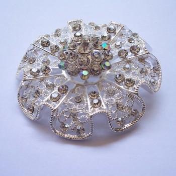 Luxury Silver Diamond Wedding Brooch