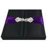 Black wedding invitation box with embellishment
