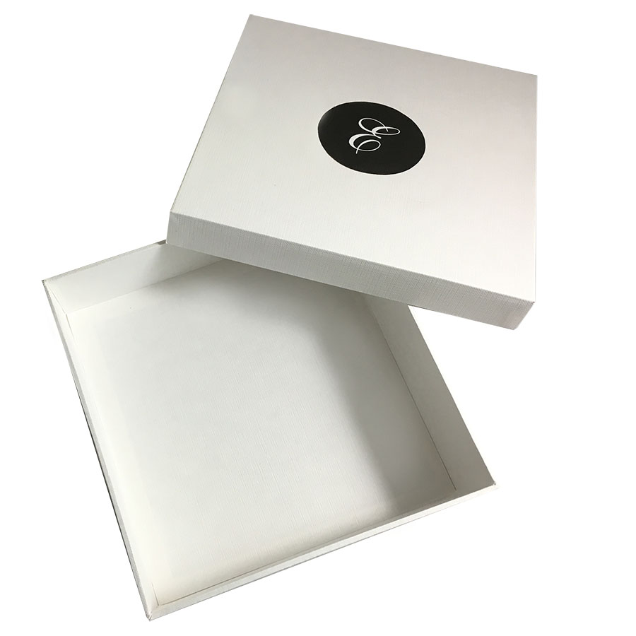 Monogram Printed White Mailing Box For Silk Invitation Boxes ...