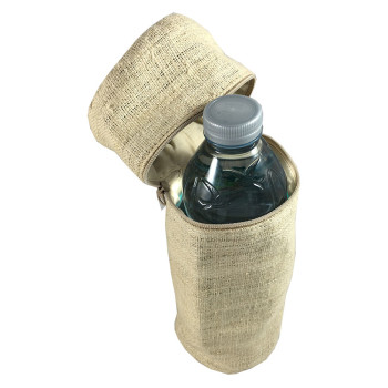 Hemp bag with water bottle