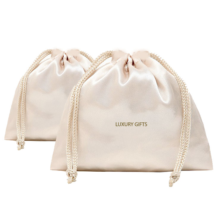 Wholesale White Drawstring Bags