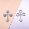 Cross Crystal Brooch