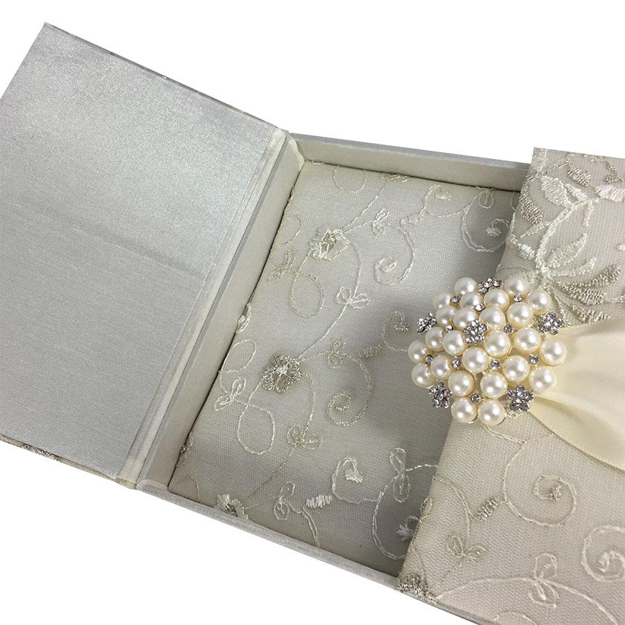 Lace Wedding Invitations amp Ivory Gatefold Box With Large