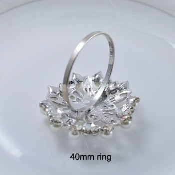 Backside of pearl napkin ring