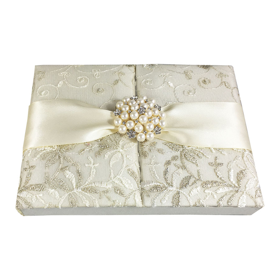 vintage lace wedding invitation box