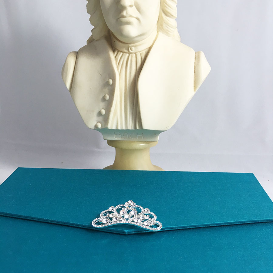 Light Teal Color Luxury Silk Pocket Fold Design For Wedding ...