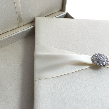 Cream invitation boxes