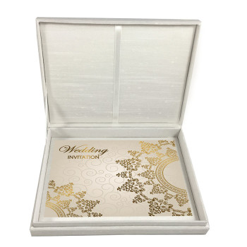 Luxury wedding invitation box