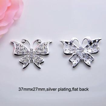 Flatback butterfly brooch