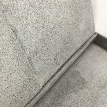 suede box interior, grey