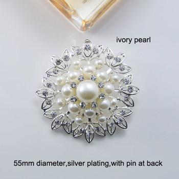 ivory pearl brooch