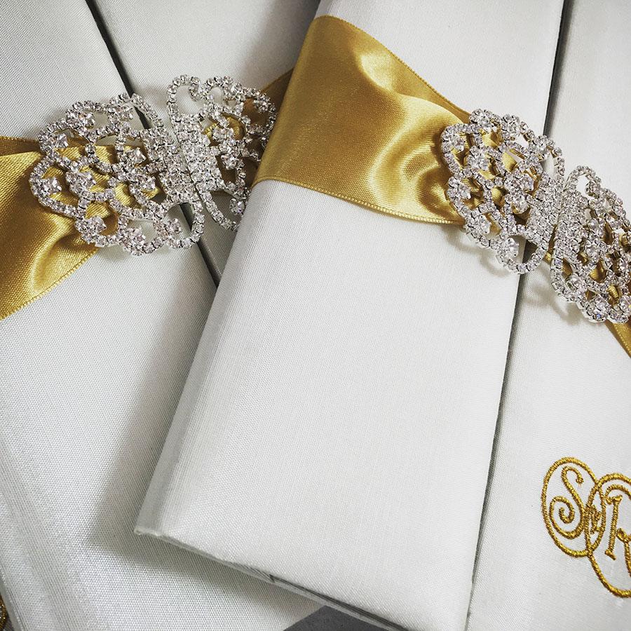 Luxury silk invitation folder for wedding cards