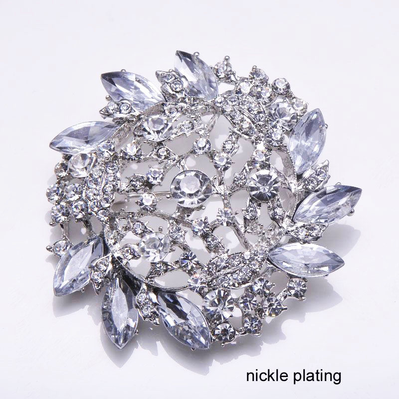 luxury rhinestone brooch