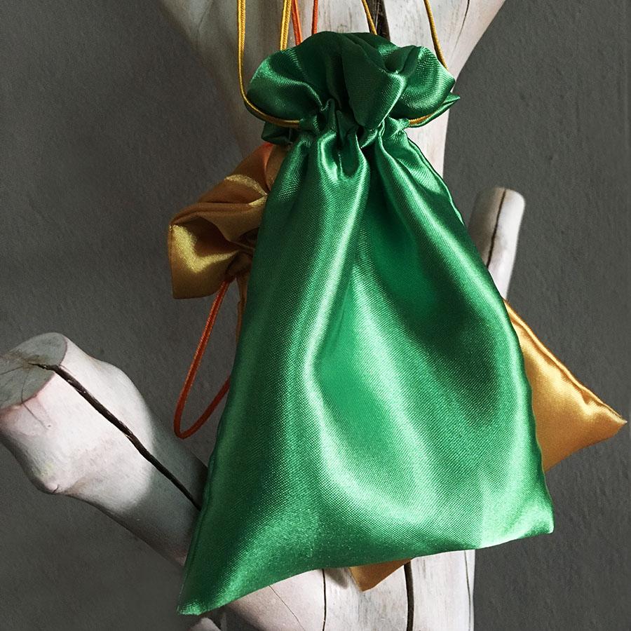 Oriental Drawstring Bag Drawstring pouch Silk Drawstring bag Satin Drawstring bag
