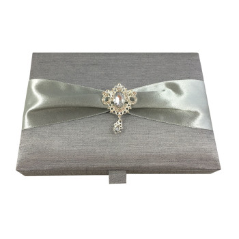 Silver Invitation Box