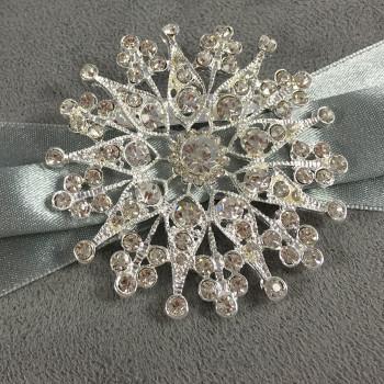 crystal star brooch