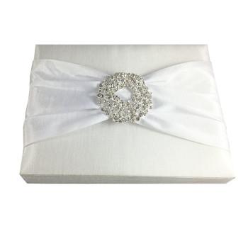 white invitation box