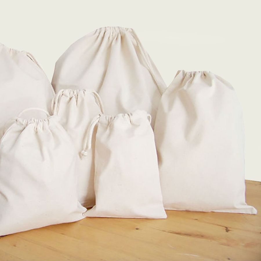 Cotton Drawstring Bags For Your Eco Bag Wholesale Requirements
