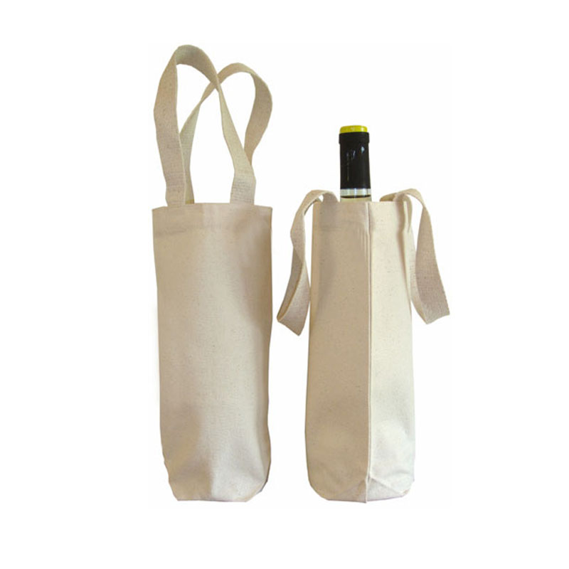 Eco Cotton Wine Bottle Bag 100 Natural