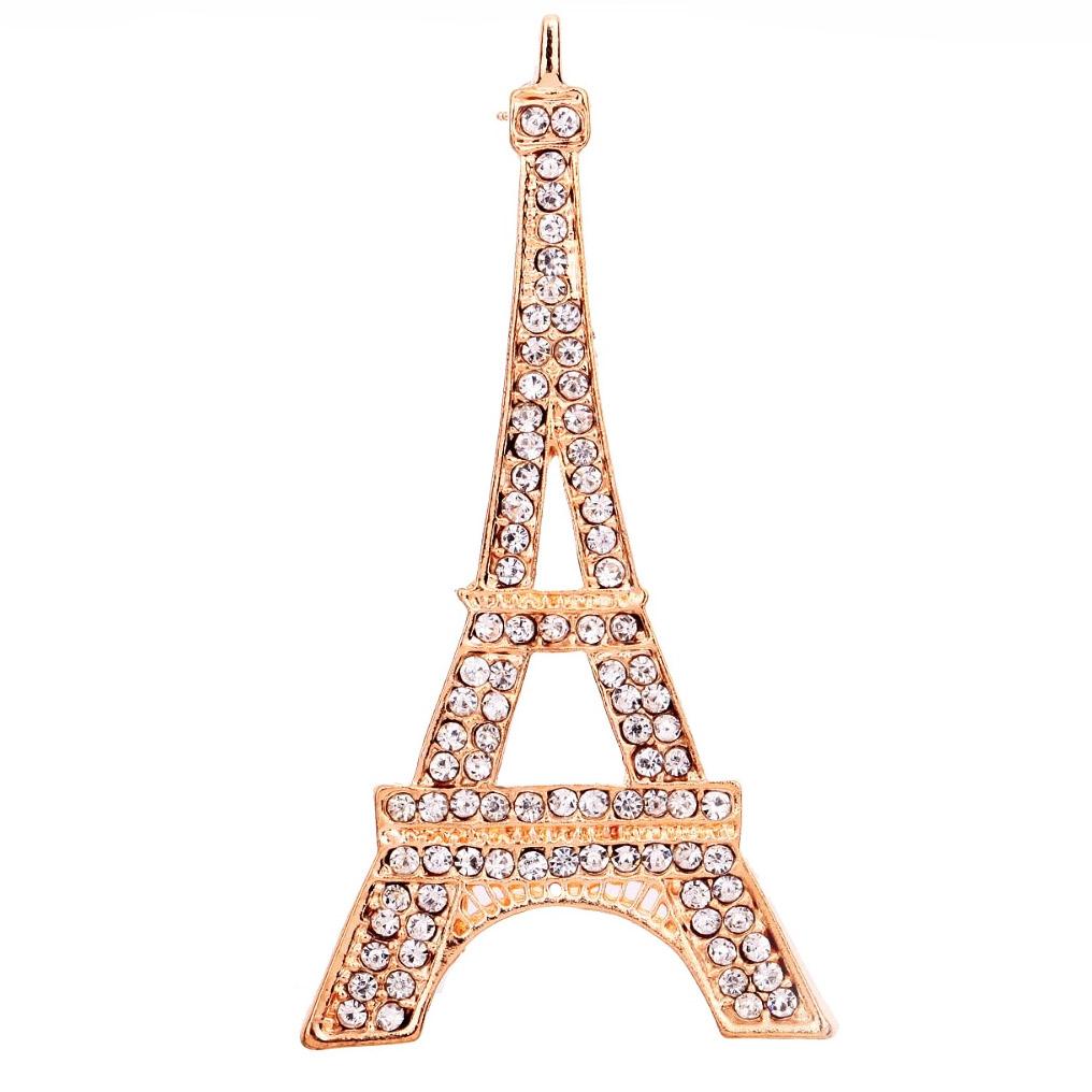 Golden eifel tower brooch wedding embellishment creation for Designhotel eifel