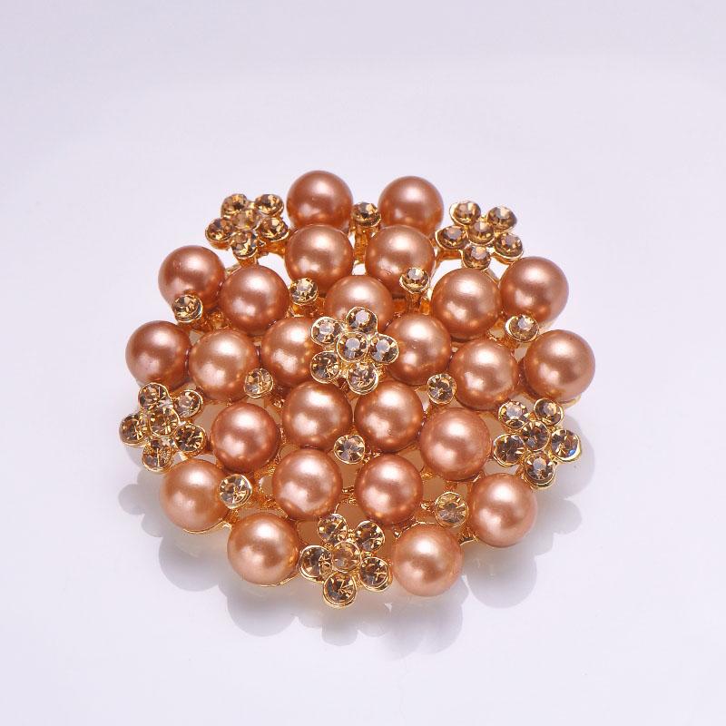 Golden pearl Brooch