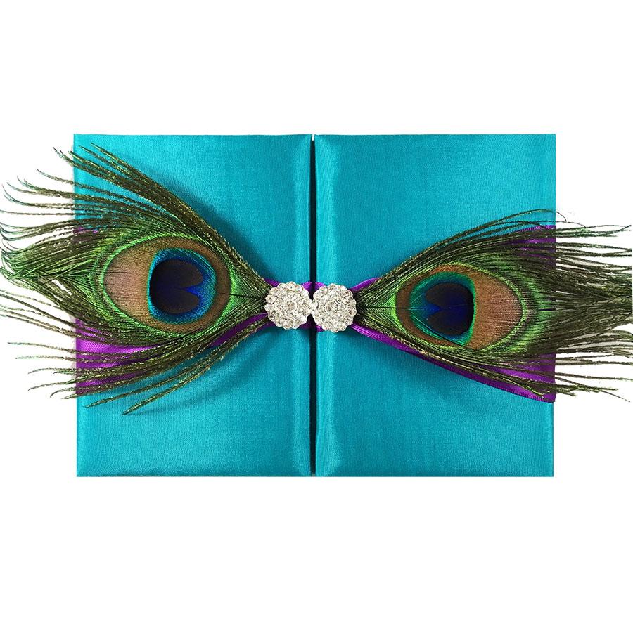 Peacock Wedding Invitation Folder