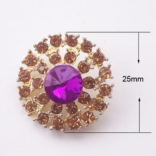 Rosegold rhinestone brooch