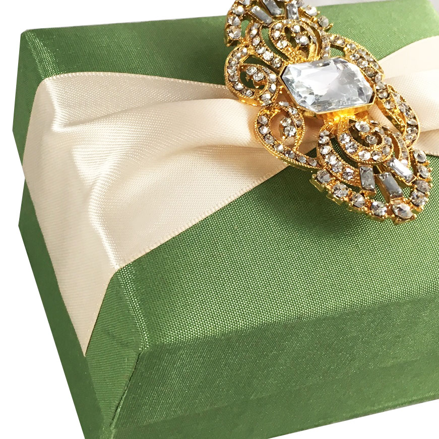 Green favour Boxes