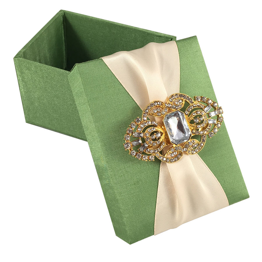 Light green wedding favour box