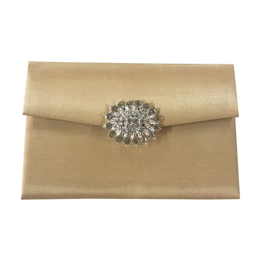 Luxury Golden Wedding Envelope