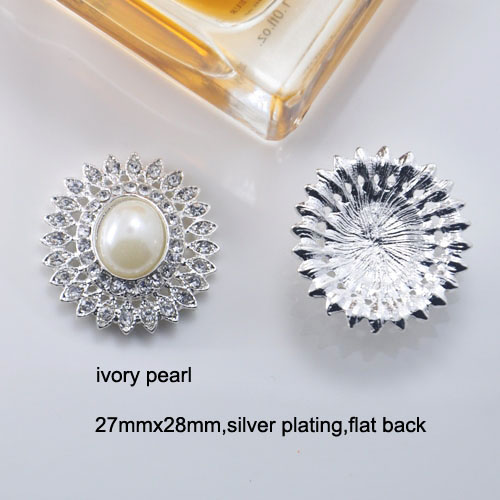 silver pearl brooch