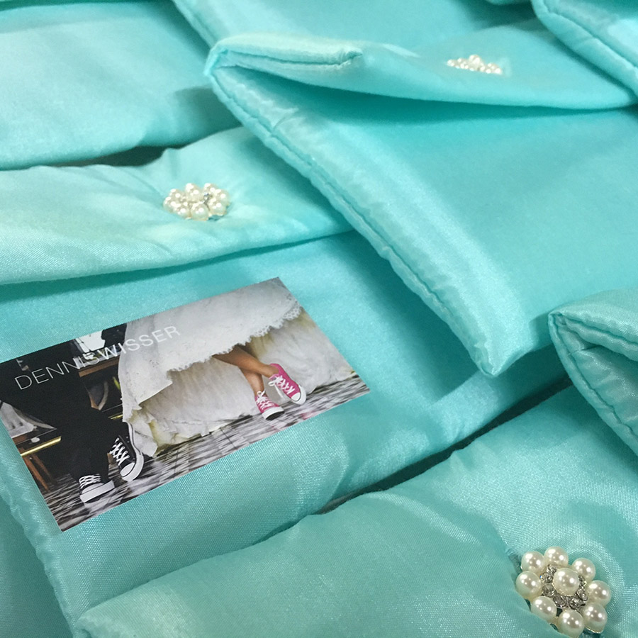 tiffany blue wedding pouches