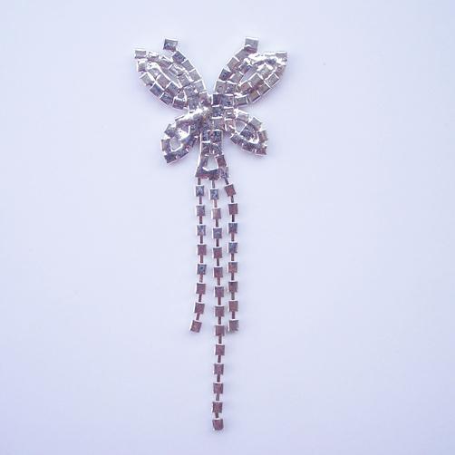 backside of butterfly crystal hanger