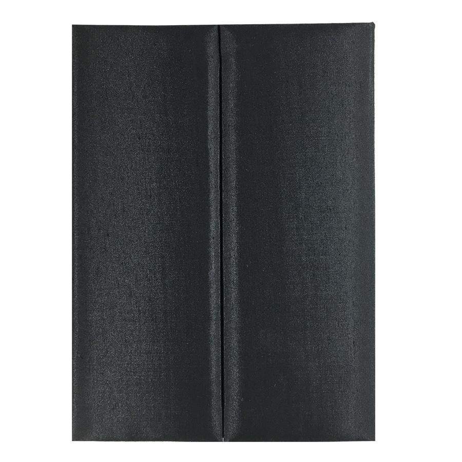 trifold silk invitation