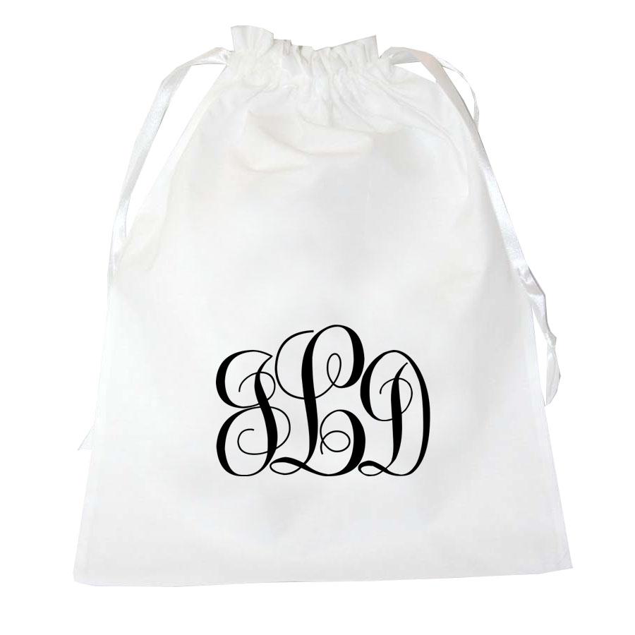 The Black And White Taffeta Silk Lingerie Bag & Personalized ...