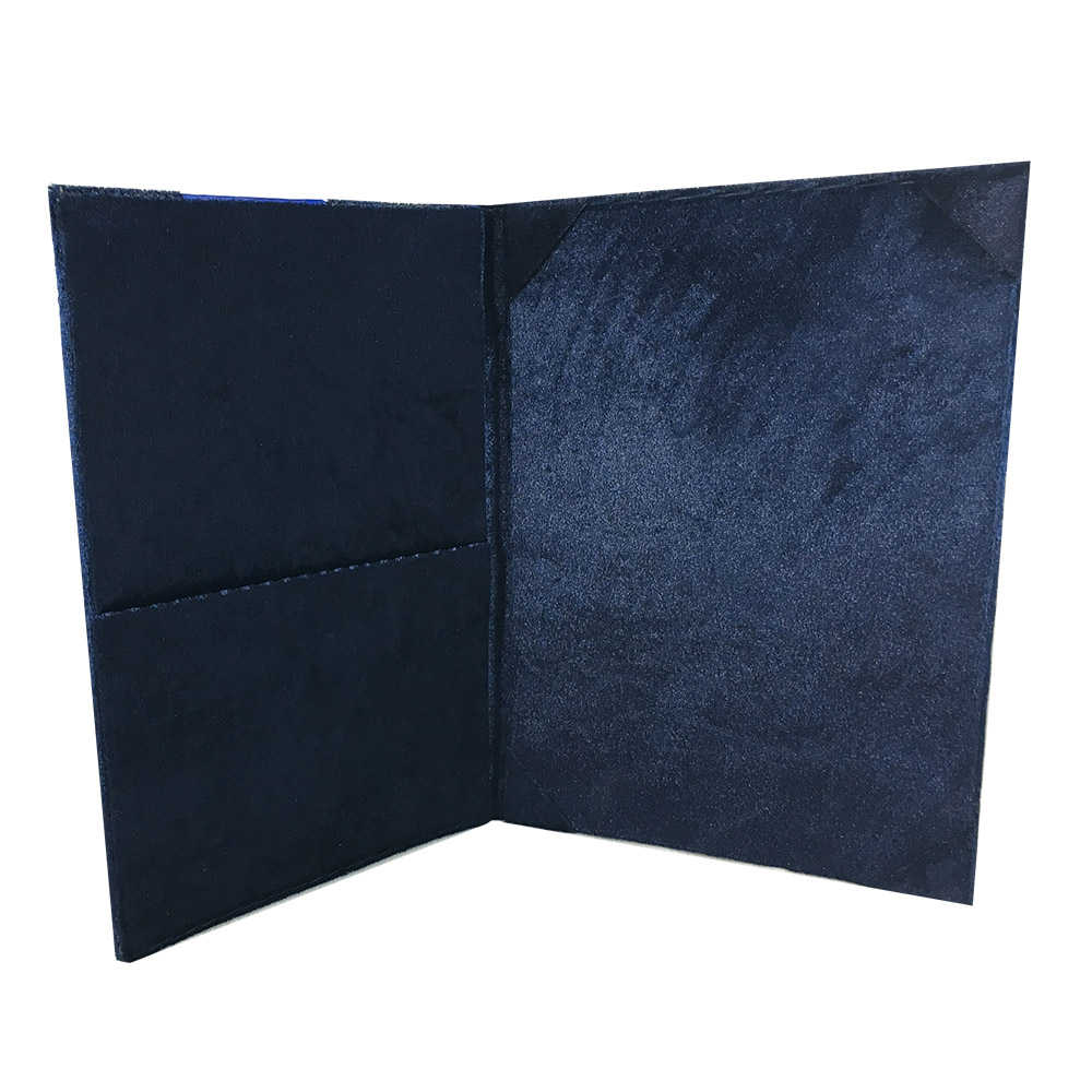 velvet invitation pocket folder